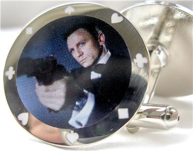 Casino Royale James Bond Poker Chips Cufflinks
