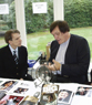 Gunnar Sch�fer and Richard Kiel in Pinewood Studios  in London
