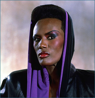 "Grace Jones som Mayday i ""Levande Måltavla"" James Bond movie ""A View To A Kill"" 1985."