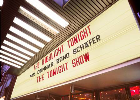 THE HIGHLIGHT TONIGHT MR GUNNAR SCH�FER THE TONIGHT SHOW