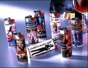 James Bond 007 Bic lighters/t�ndare 12 olika