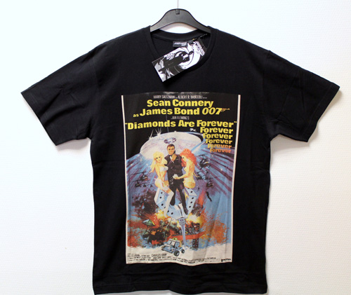 James Bond 007 T-shirt Diamonds Are Forever.