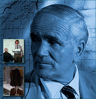Desmond Llewelyn as Q, the head of MI6's technical department.