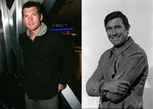Sam Worthington and George Lazenby