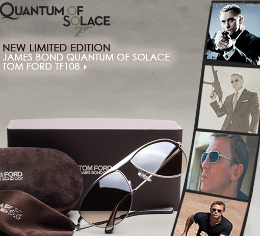 James Bond sunglasses:  From Quantum of Solace Mod. TF 108 S